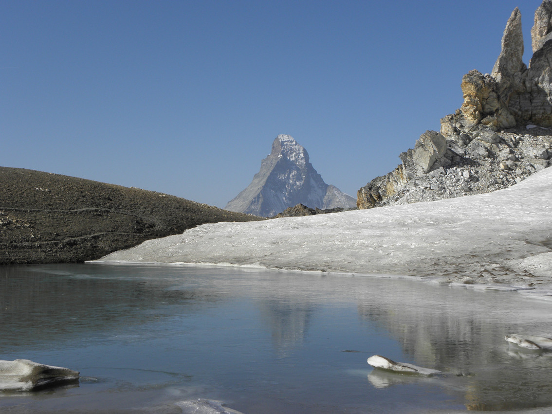 Das Matterhorn vom Mattelhorn aus