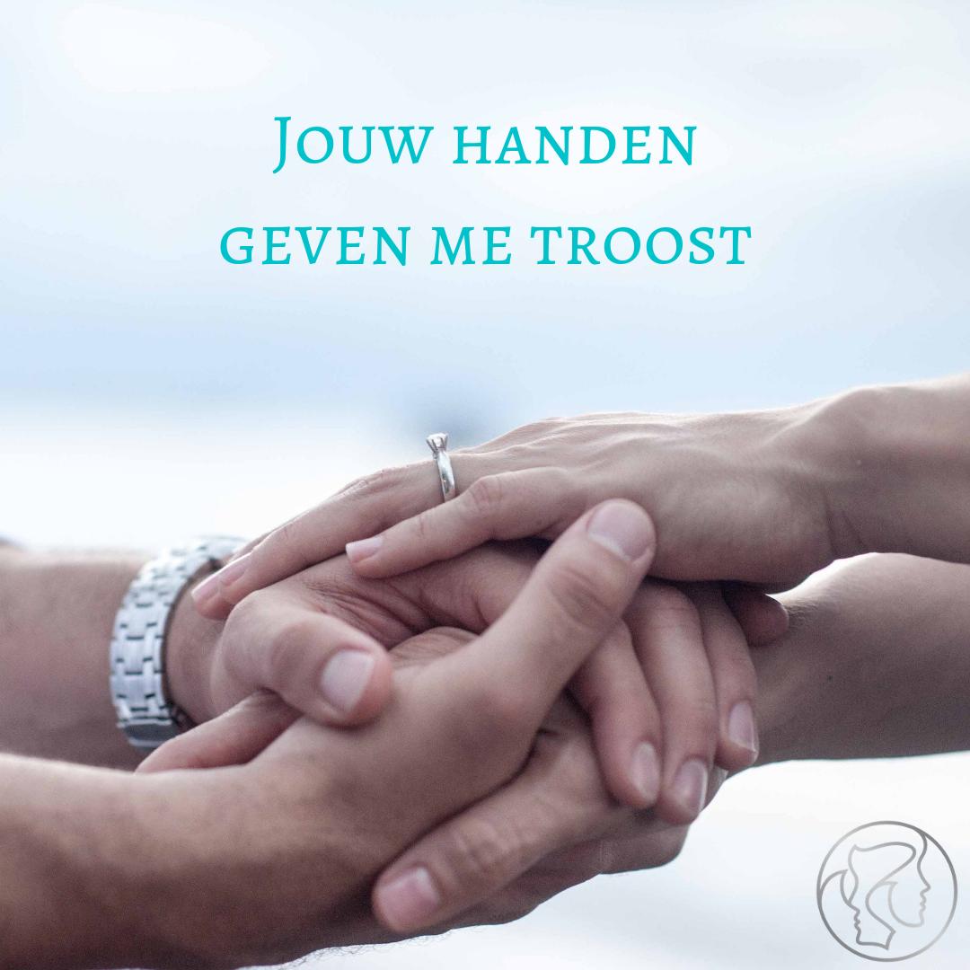 Jouw hand in de mijne