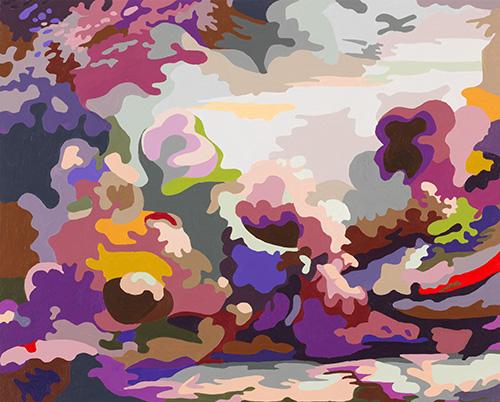 O. T. (WOLKE III ) 2015 | Acryl auf Nessel | 50 × 40 cm