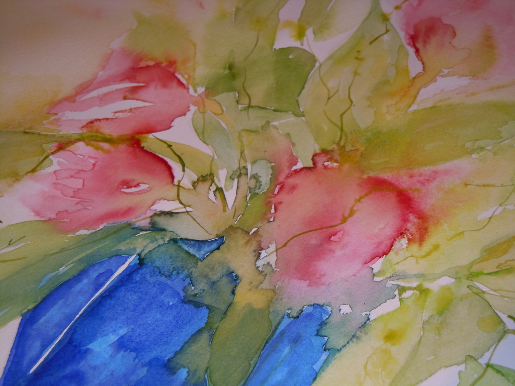 Die Tulpen nehmen Form an.....