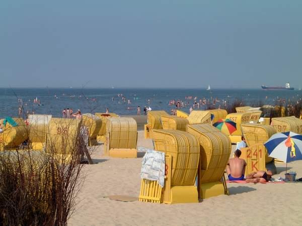 Ausspannen und erholen bei jodhaltiger, frischer Luft am Cuxhavener Strand