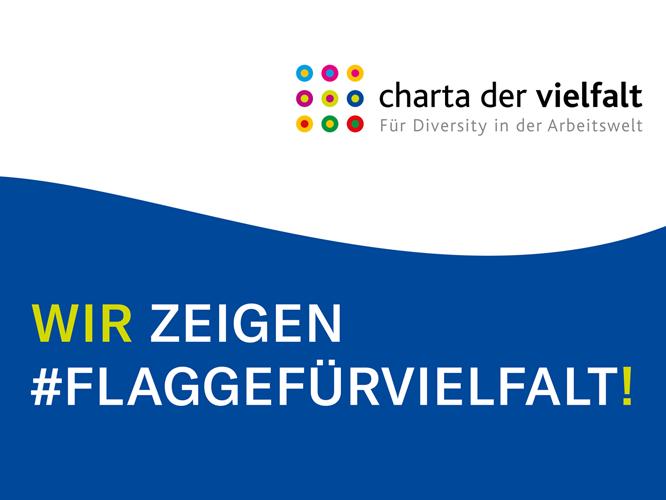 Bild: Charta der Vielfalt - Wir zeigen Flagge für Vielfalt