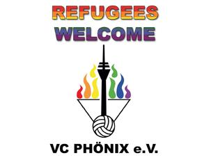 Logo: Refugees Welcome - VC Phönix