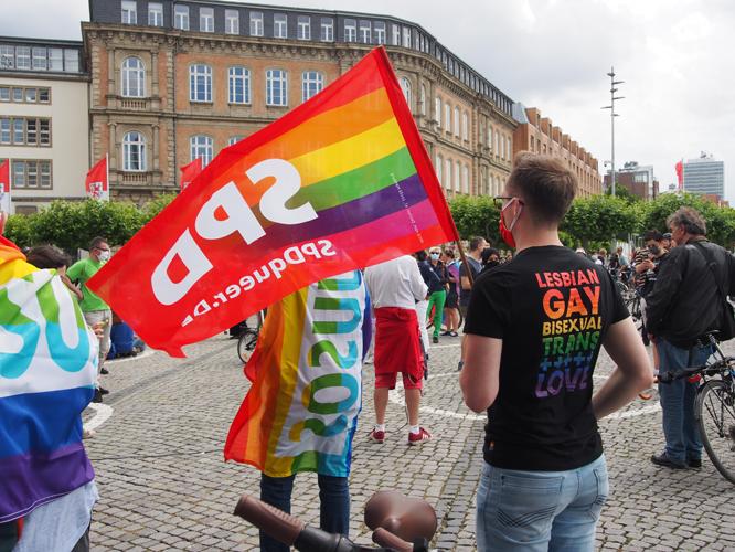 Bild: Flagge von SPDqueer