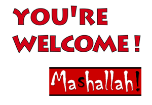 Logo: You're Welcome – Mashallah