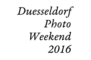 Logo: Duesseldorf Photo Weekend 2016