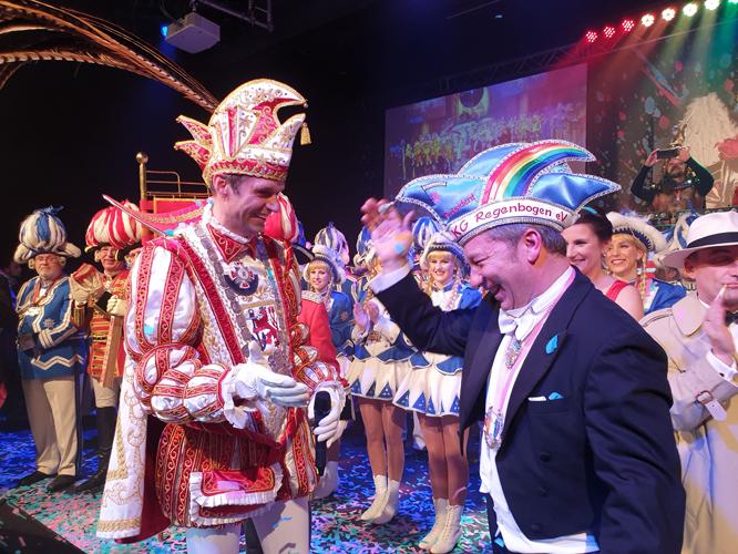 Bild: Karnevalsprinz Martin I. und Regenbogen-Präsident Andreas Mauska