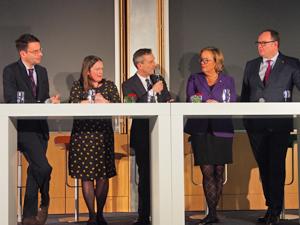 Bild: Podiumsdiskussion mit Andreas Bothe, Henrike Tetz, Thomas Geisel, Aletta Gräfin von Hardenberg und Harald Christ