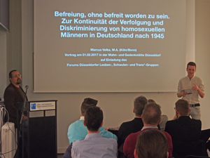 Bild: Vortrag zur Schwulen-Verfolgung in Düsseldorf