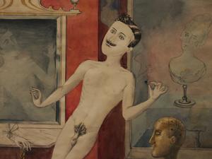 """Bild: """"Der Gott der Friseure"""" von Otto Dix"""