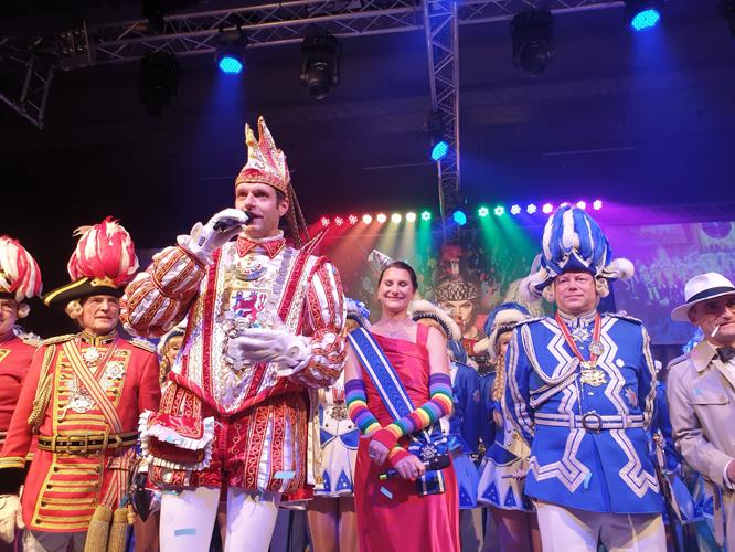 Bild: Karnevalsprinz Martin I. mit Venetia Sabine