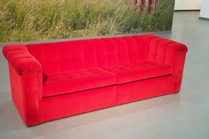 Bild: Rotes Sofa von Horst Wackerbarth