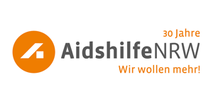 Logo: Aidshilfe NRW - Wir wollen mehr!
