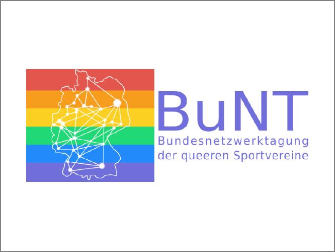 """Bild: Logo """"Bundesnetzwerktagung der queeren Sportvereine"""""""