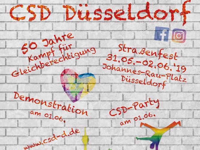 Bild: Flyer CSD Düsseldorf 2019