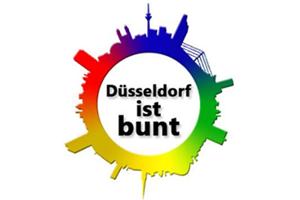Logo: Düsseldorf ist bunt