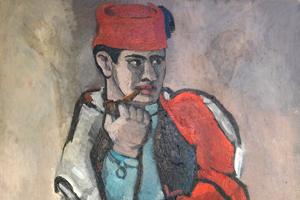 """Bild: """"Pfeife rauchender Spahi"""" (1925) von Helmut Kolle"""