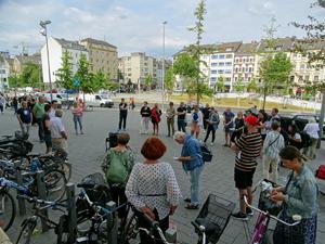 Bild: Demo vor den Bilker Arcaden