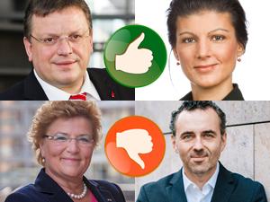 Bild: Vier Bundestagsabgeordnete aus Düsseldorf