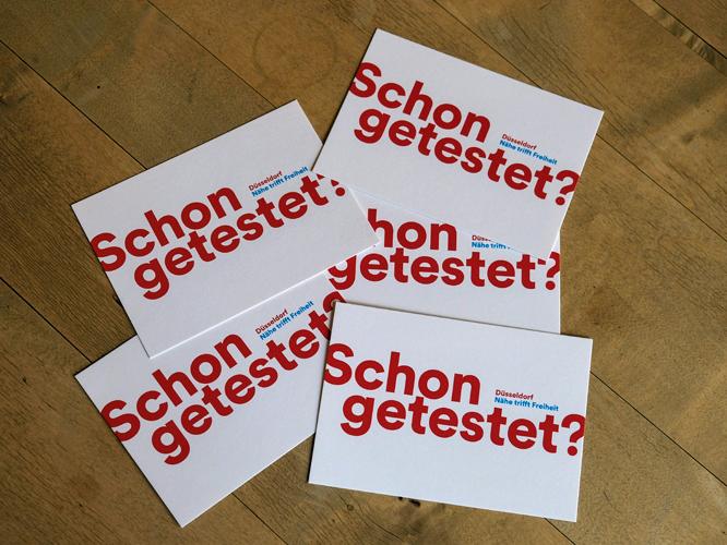 """Bild: Postkartenmotiv """"Schon getestet?"""""""