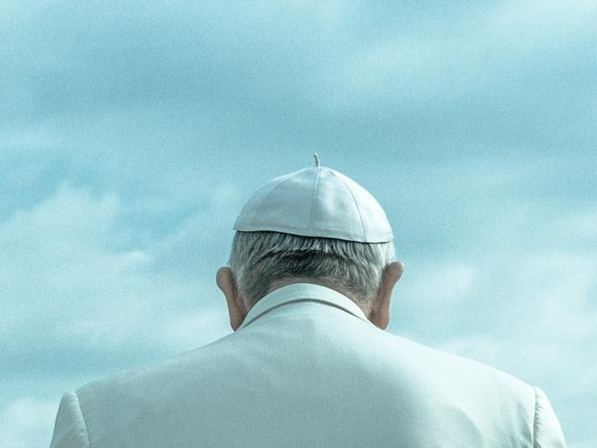 Bild: Papst Franziskus von hinten