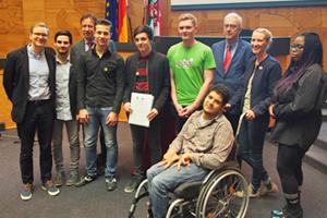 Bild: Verleihung des Integrationspreises 2016 an das PULS Jugendzentrum
