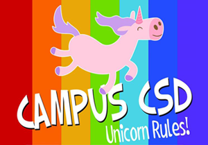 Logo: Campus CSD – Unicorn Rules!