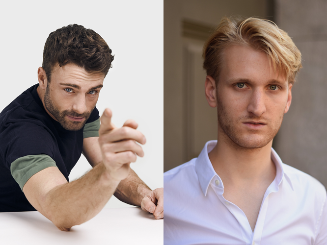 Bild: Links: Florian Jahr, Foto: Lucia Hunziker. Rechts: Sergej Czepurnyi, Foto: Niklas Vogt