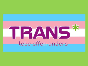 Logo: Trans* - lebe offen anders