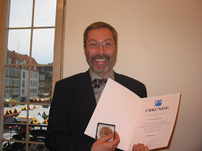 Bild: Harald Schüll mit Martinstaler
