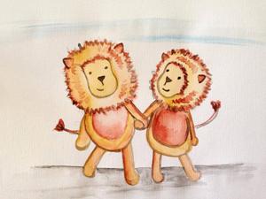 Bild: Buchmotiv Schwules Löwenpärchen