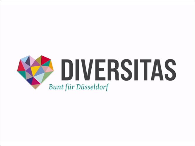 Bild: Logo Diversitas - Bunt für Düsseldorf