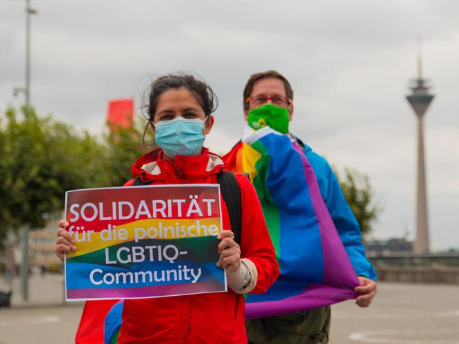 Bild: Solidarität für die polnische LGBTIQ-Community