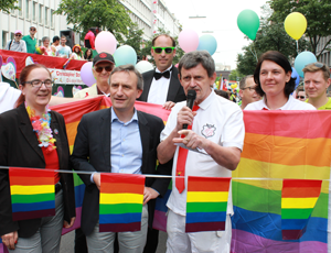 OB Geisel und CSD-Organisator Kalle Wahle
