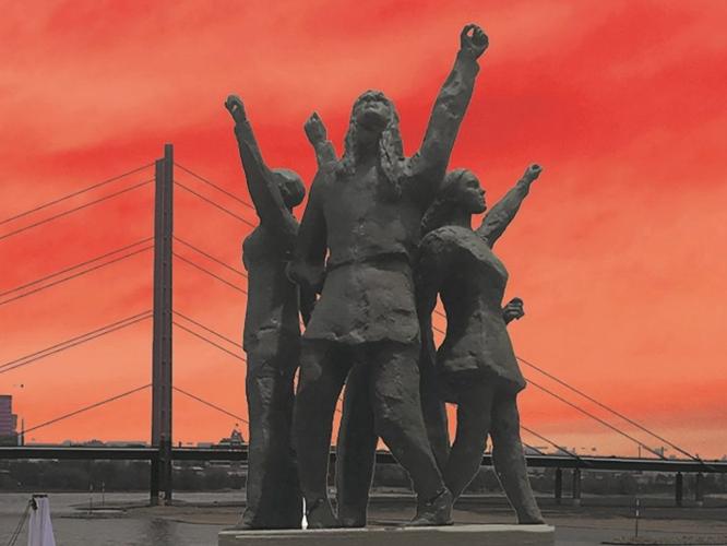 Bild: Entwurf des Düsseldorfer LSBTIQ*-Denkmals von Claus Richter