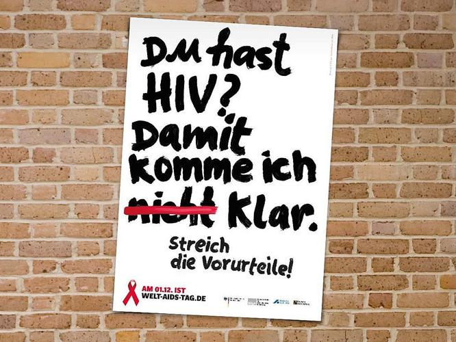Bild: Du hast HIV? Damit komme ich klar. Streich die Vorurteile!