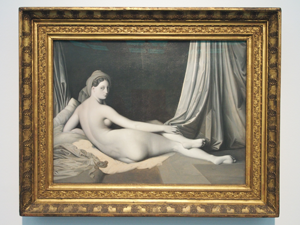 """Bild: """"Odaliske in Grisaille"""" (1824-1834) von Jean-Auguste-Dominique Ingres"""