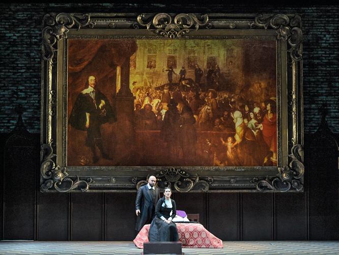 "Bild: Bogdan Talos und Adela Zaharia in ""I puritani"""