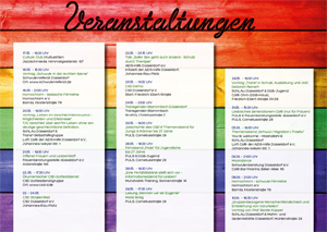 Programmflyer Pride Weeks 2015