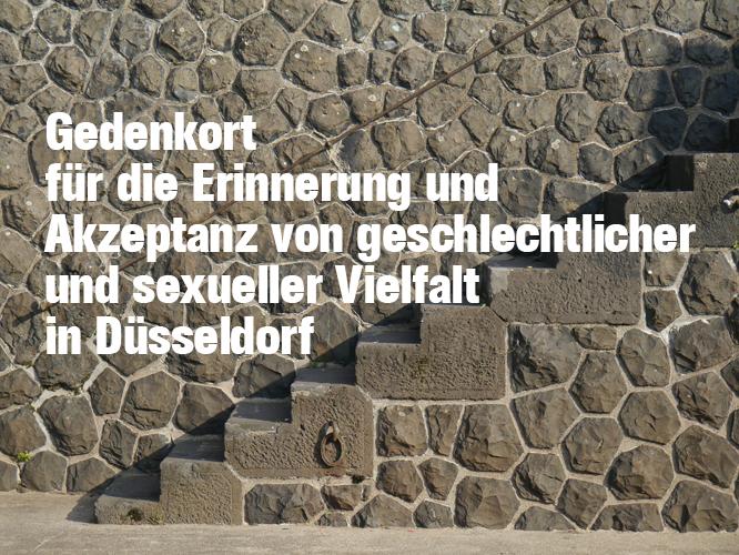 Bild: Gedenkort für die Erinnerung und Akzeptanz von geschlechtlicher und sexueller Vielfalt in Düsseldorf