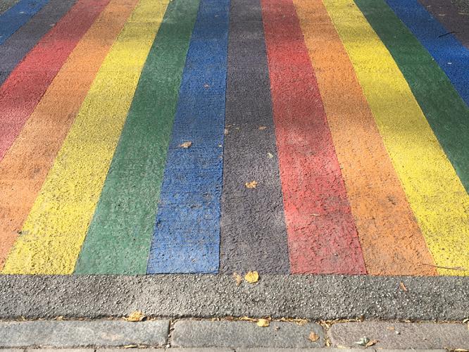 Bild: Regenbogen-Zebrastreifen in Hamburg