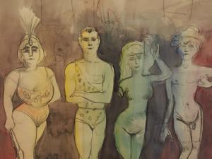 """Bild: """"Artisten"""" von Otto Dix"""