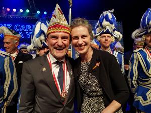 Bild: Oberbürgermeister Thomas Geisel mit Gattin