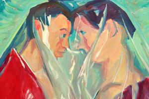 """Bild: """"Paar"""" von Maria Lassnig"""