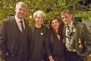 Bild: Dirk Jehle, Kjell Herold, Melanie Wohlgemuth und Udo Figge (von links)