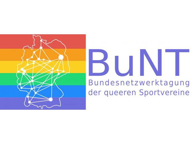 Bild: Logo Bundesnetzwerktagung der queeren Sportverbände