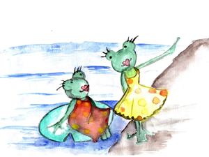 Bild: Buchmotiv lesbische Froschfrauen