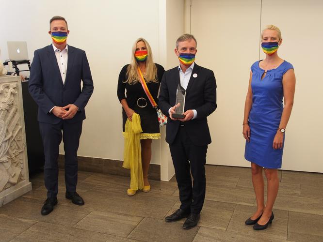 Bild: Matthias Weber, Elisabeth Wilfart, Thomas Geisel und Jana Hansjürgen