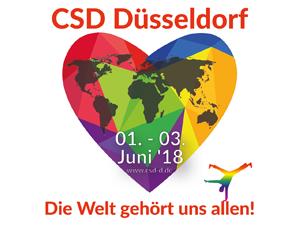 """Bild: CSD-Motto """"Die Welt gehört uns allen!"""""""