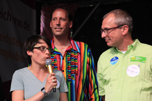 Bild: Josefine Paul, Stefan Engstfeld und Volker Beck